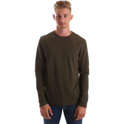 textil Herr Långärmade T-shirts Gas 300187 Grön