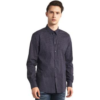 textil Herr Långärmade skjortor Gaudi 821BU45005 Grå
