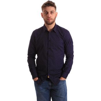 textil Herr Långärmade skjortor Gaudi 821BU45012 Blå