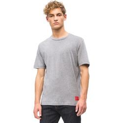 textil Herr T-shirts Calvin Klein Jeans J30J309616 Grå