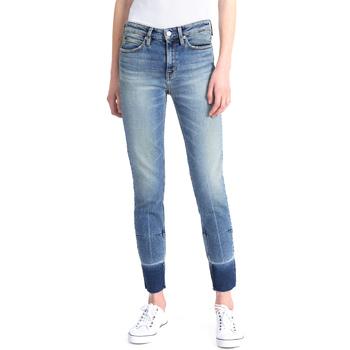 textil Dam Stuprörsjeans Calvin Klein Jeans J20J208060 Blå