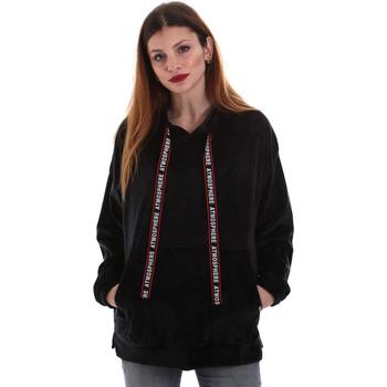 textil Dam Sweatshirts Key Up 5CS91 0001 Svart