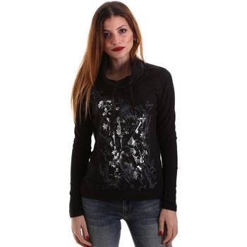 textil Dam Långärmade T-shirts Key Up 5VG84 0001 Svart