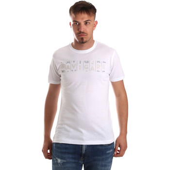 textil Herr T-shirts Navigare NV31081 Vit