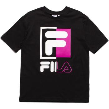 textil Herr T-shirts Fila 687475 Svart