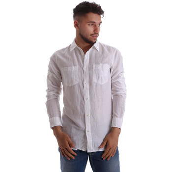 textil Herr Långärmade skjortor Gas 151150 Vit