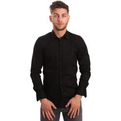 textil Herr Långärmade skjortor Antony Morato MMSL00375 FA450001 Svart