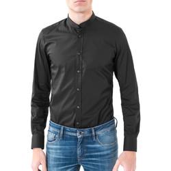 textil Herr Långärmade skjortor Antony Morato MMSL00376 FA450001 Svart