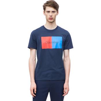 textil Herr T-shirts Calvin Klein Jeans K10K103497 Blå