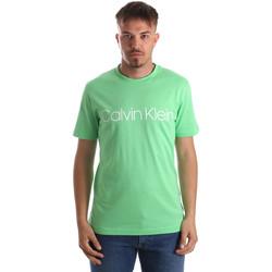 textil Herr T-shirts Calvin Klein Jeans K10K103078 Grön