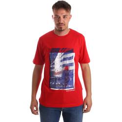 textil Herr T-shirts Calvin Klein Jeans J30J312285 Röd