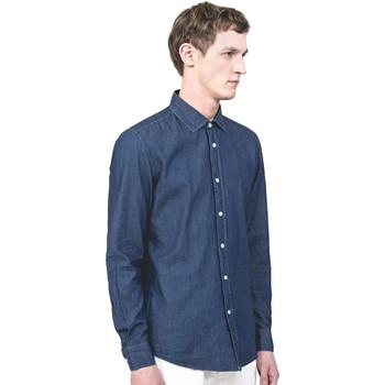textil Herr Långärmade skjortor Antony Morato MMSL00520 FA440019 Blå