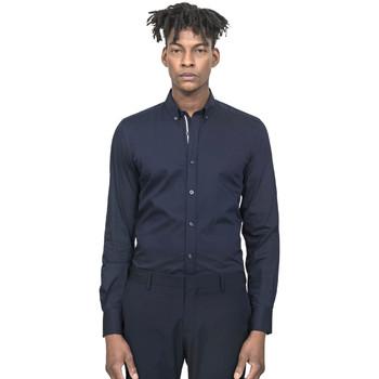 textil Herr Långärmade skjortor Antony Morato MMSL00523 FA450001 Blå