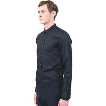 textil Herr Långärmade skjortor Antony Morato MMSL00525 FA440012 Blå