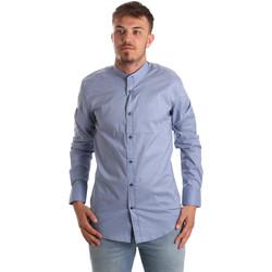 textil Herr Långärmade skjortor Antony Morato MMSL00526 FA430086 Blå