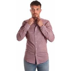 textil Herr Långärmade skjortor Antony Morato MMSL00526 FA430360 Röd