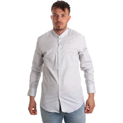 textil Herr Långärmade skjortor Antony Morato MMSL00526 FA440024 Vit