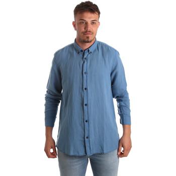textil Herr Långärmade skjortor Antony Morato MMSL00530 FA400051 Blå
