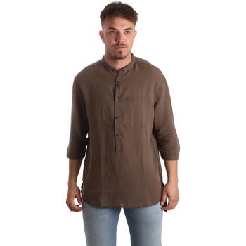textil Herr Långärmade skjortor Antony Morato MMSL00531 FA400051 Brun