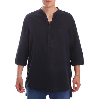 textil Herr Långärmade skjortor Antony Morato MMSL00531 FA400051 Blå