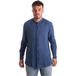textil Herr Långärmade skjortor Antony Morato MMSL00547 FA400051 Blå