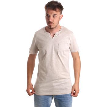 textil Herr T-shirts Antony Morato MMKS01487 FA100139 Beige