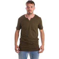 textil Herr T-shirts Antony Morato MMKS01487 FA100139 Grön