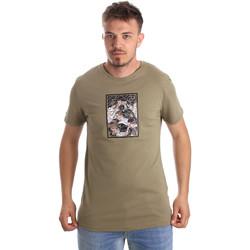 textil Herr T-shirts Antony Morato MMKS01551 FA100144 Grön