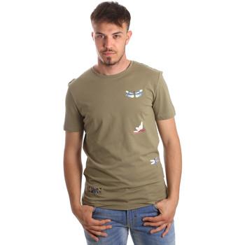 textil Herr T-shirts Antony Morato MMKS01515 FA100144 Grön