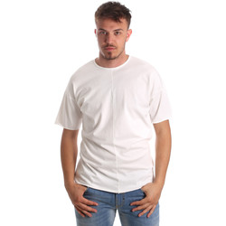 textil Herr T-shirts Antony Morato MMKS01564 FA100189 Vit