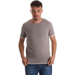 textil Herr T-shirts Gaudi 911FU53007 Grå