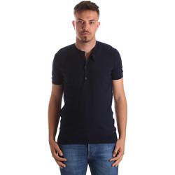 textil Herr T-shirts Gaudi 911FU53008 Blå