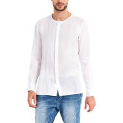 textil Herr Långärmade skjortor Gaudi 911BU45002 Vit