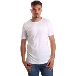 textil Herr T-shirts Gaudi 911BU64023 Vit