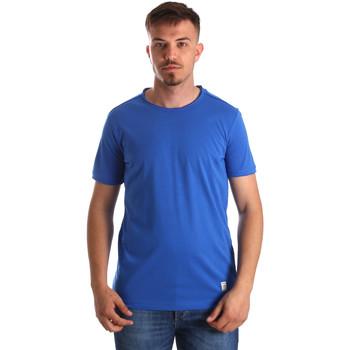 textil Herr T-shirts Gaudi 911BU64023 Blå