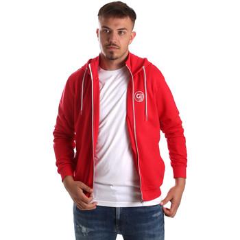 textil Herr Sweatshirts Gaudi 911BU64043 Röd