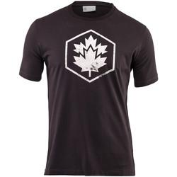 textil Herr T-shirts Lumberjack CM60343 001 509 Svart