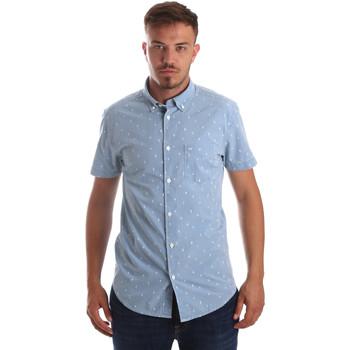textil Herr Kortärmade skjortor Wrangler W59446 Blå