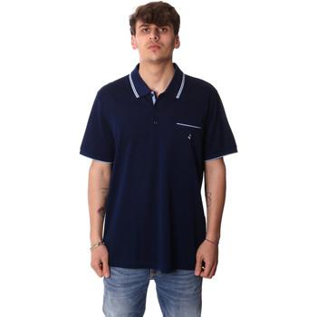 textil Herr Kortärmade pikétröjor Navigare NV72045AD Blå