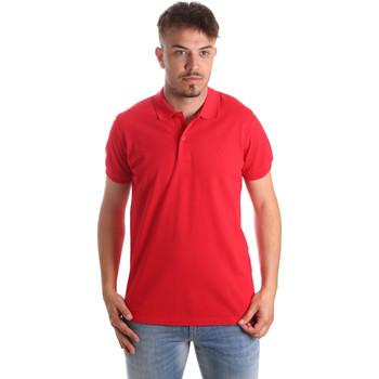 textil Herr Kortärmade pikétröjor Navigare NV82001 Röd