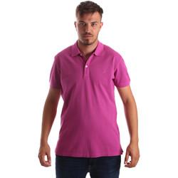 textil Herr Kortärmade pikétröjor Navigare NV82086 Rosa