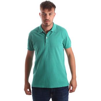 textil Herr Kortärmade pikétröjor Navigare NV82086 Grön