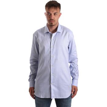 textil Herr Långärmade skjortor Navigare NV90005 FR Blå