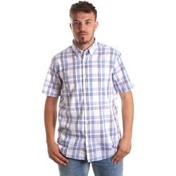 textil Herr Kortärmade skjortor Navigare NV91057 BD Blå
