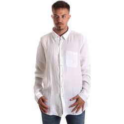 textil Herr Långärmade skjortor Navigare NV92067 BD Vit
