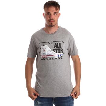 textil Herr T-shirts Converse 10017575-A01 Grå