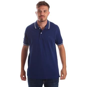 textil Herr Kortärmade pikétröjor Key Up 2Q70G 0001 Blå