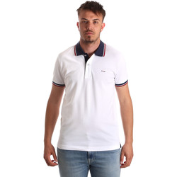 textil Herr Kortärmade pikétröjor Key Up 2Q62G 0001 Vit