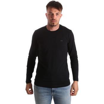 textil Herr Långärmade T-shirts Key Up 2E96B 0001 Svart