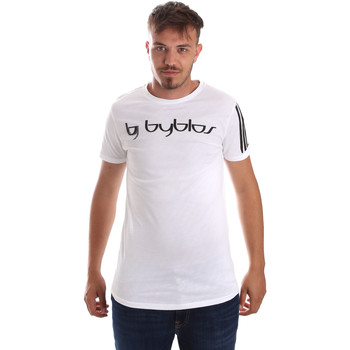 textil Herr T-shirts Byblos Blu 2MT0016 TE0046 Vit